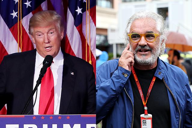 """Flavio Briatore applaude l'amico Donald Trump: """"I giornalisti non capiscono un c..."""""""
