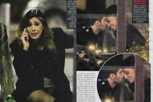 Belén Rodriguez piange e litiga al telefono, Andrea Iannone la consola con un bacio