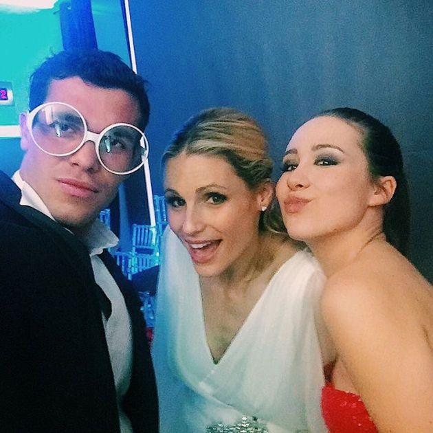 Goffredo con Michelle Hunziker e Aurora Ramazzotti