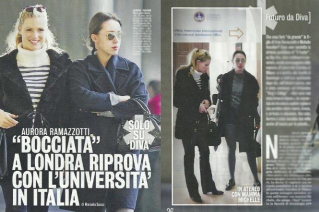 Respinta l'iscrizione al college di Aurora Ramazzotti, che ci riprova con l'Università