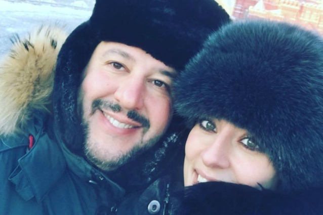 Matteo Salvini ed Elisa Isoardi: la prima foto social, fuga romantica a Mosca