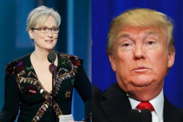 """Trump risponde a Meryl Streep: """"Una delle attrici più sopravvalutate di Hollywood"""""""