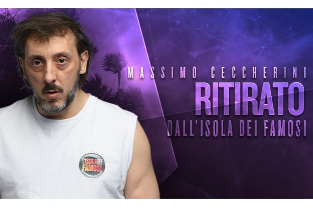 Massimo Ceccherini si è ritirato dall'Isola dei famosi 2017, il televoto è annullato