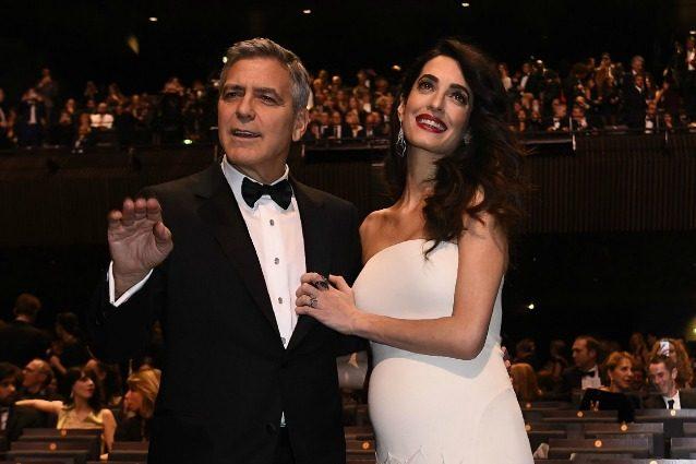 """George Clooney sulla gravidanza di Amal Alamuddin: """"Che ansia avere due gemelli in questo mondo"""""""