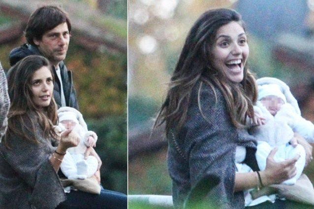 Le prime foto di Serena Rossi con il figlio Diego, con loro anche Davide Devenuto
