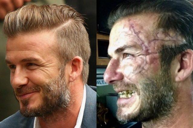 David Beckham da bellissimo a mostro: ecco le foto COMMENTA