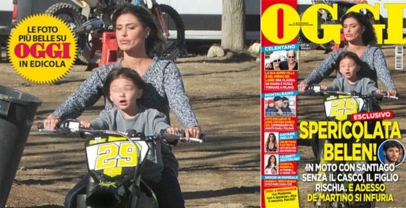La cover di Oggi con Belen e Santiago