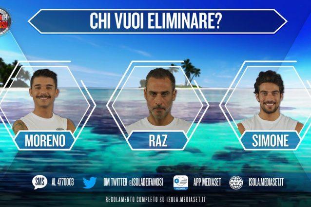 I nominati sono Moreno, Raz Degan e Simone Susinna