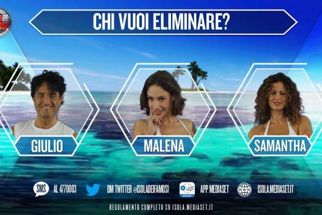 Giulio Base, Malena e Samantha De Grenet sono i nominati dell'ottava puntata