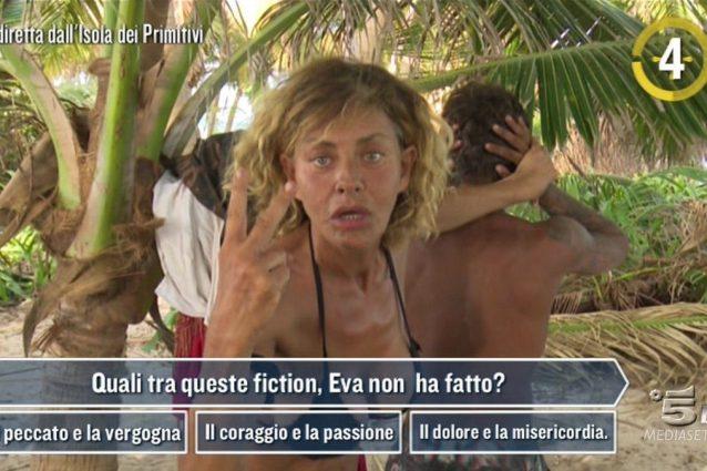 La gaffe di Eva Grimaldi, dimentica il titolo di una fiction in cui è stata protagonista