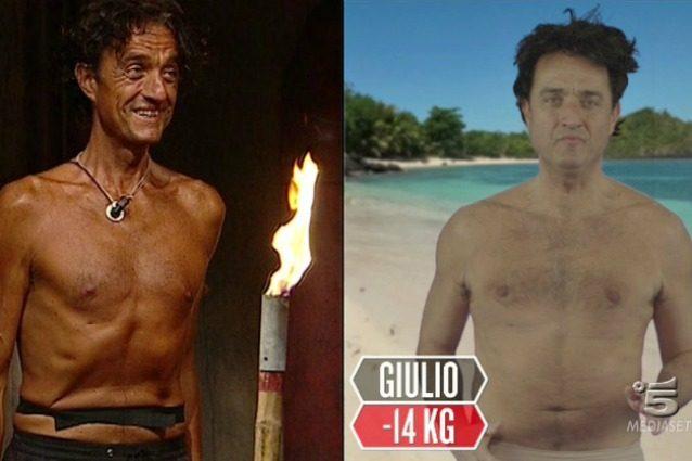 La prova specchio: Giulio Base il più dimagrito con 13 chili persi, 9 per Nancy