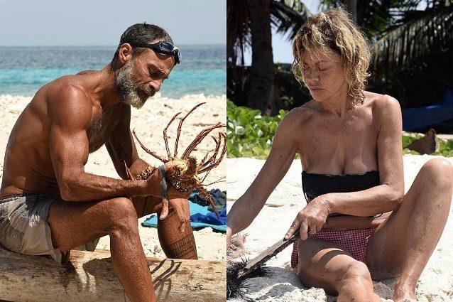 """Eva Grimaldi: """"Raz pesca e mangia senza offrire. Andrà in finale, che brutta isola"""""""