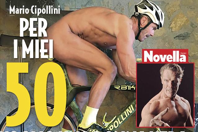 """Mario Cipollini nudo in copertina: """"Per i miei 50 anni voglio regalarmi una donna vera, non siliconata"""""""