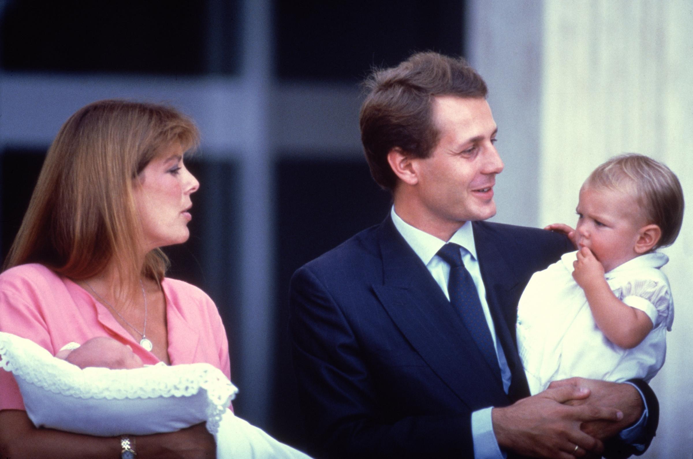 Carolina di Monaco e Stefano Casiraghi con Pierre e Charlotte