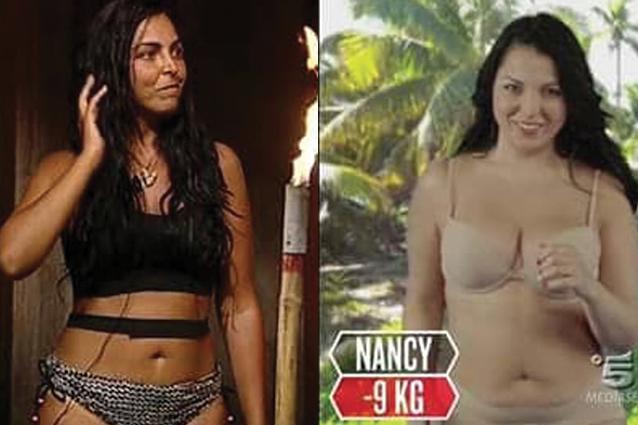Nancy Coppola è la naufraga che è dimagrita di più, 9 chili in meno