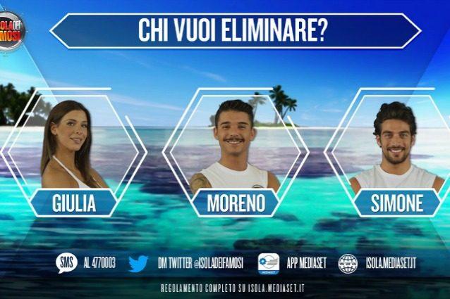 Simone Susinna, Moreno e Giulia Calcaterra in nomination all'Isola dei Famosi 2017