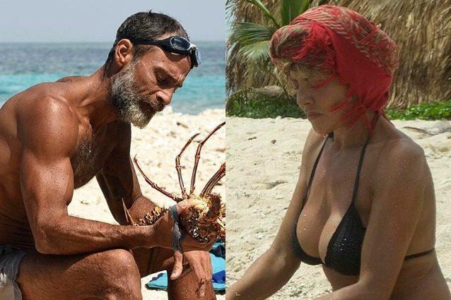"""Raz Degan provoca Eva Grimaldi: """"Quando morirai, userò il tuo cadavere per pescare"""""""