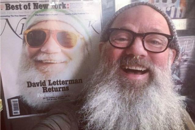 Michael Stipe sosia di David Letterman, l'ex Rem ha la stessa barba del conduttore