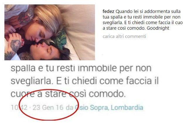 Che gaffe, Fedez: la dedica alla Ferragni è riciclata da un messaggio per Giulia Valentina