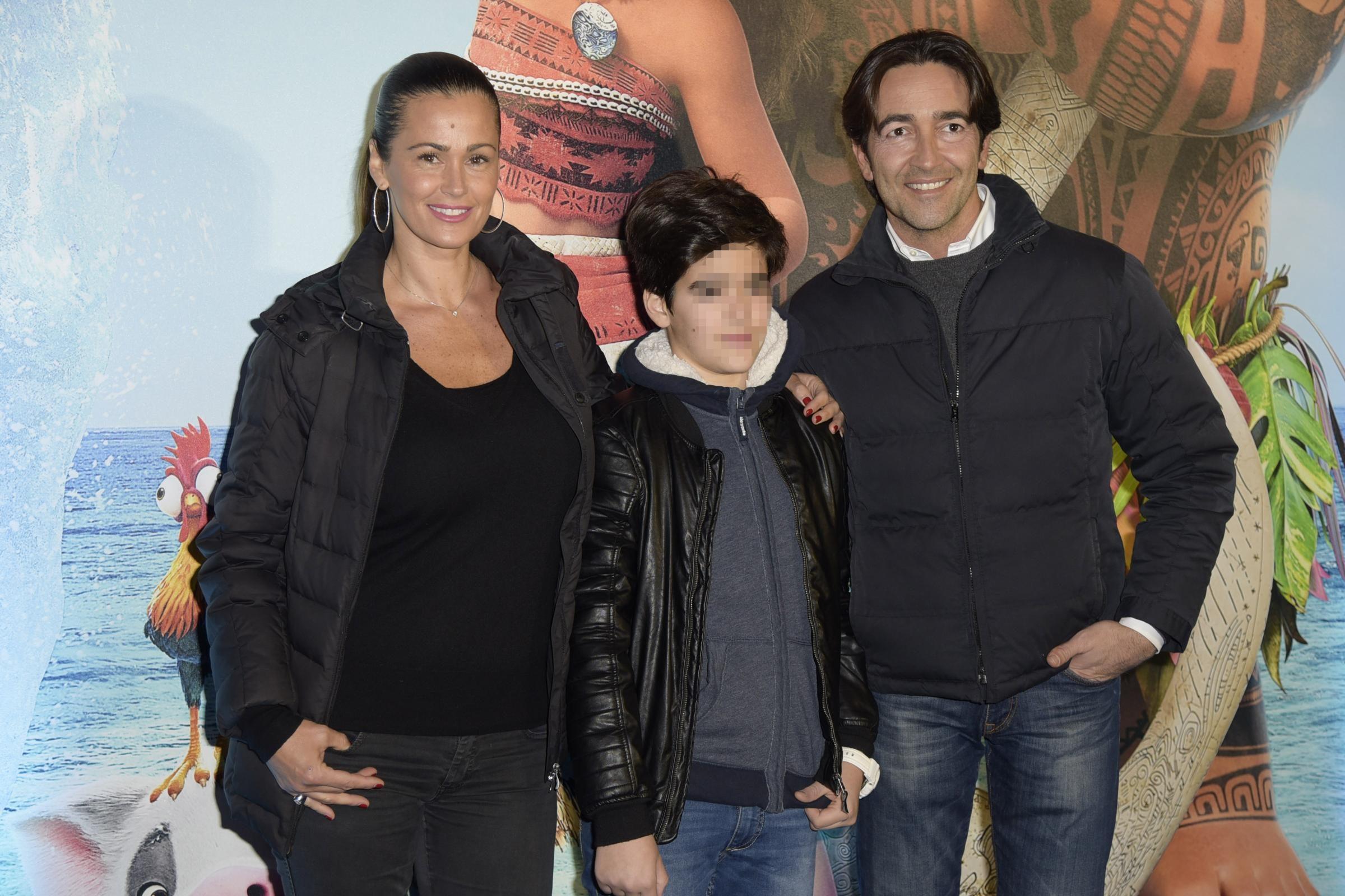 Samantha con Brando e Luca Barbato