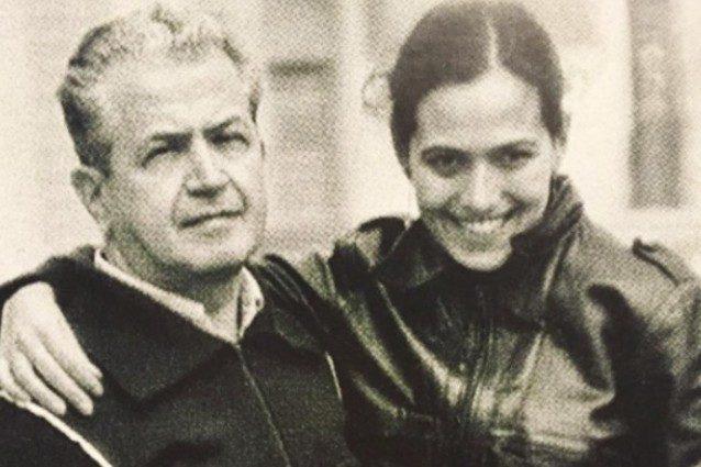 Barbara D'Urso con il padre Rodolfo