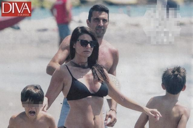 """Ilaria d'Amico e Gigi Buffon: """"Figli caciaroni, litigano e poi fanno subito la pace"""""""