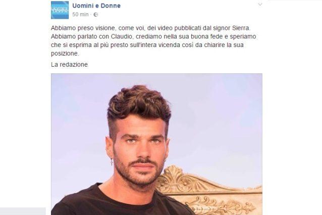 """La redazione di UeD sui video di Juan, ex di Sona: """"Crediamo alla buona fede di Claudio"""""""