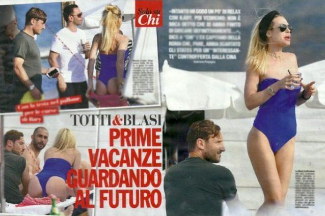 Ilary Blasi mostra il lato B a Montecarlo, Totti geloso le lancia occhiatacce