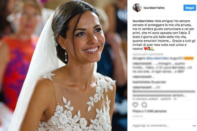 Laura Barriales sposa in gran segreto: le foto del matrimonio con Fabio Cattaneo