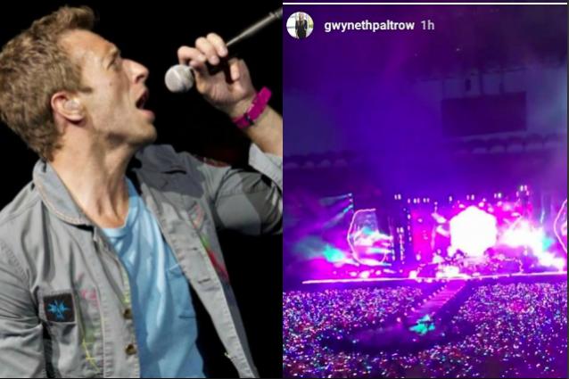 C'era anche Gwyneth Paltrow al concerto dei Coldplay a Milano