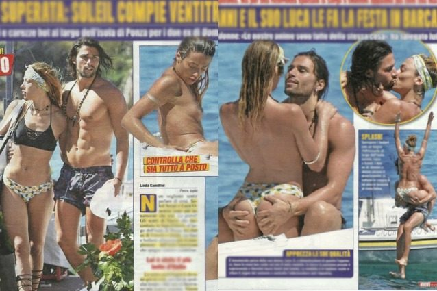 Nessuna crisi tra Luca Onestini e Soleil Sorgè: vacanza hot tra baci, topless e carezze piccanti