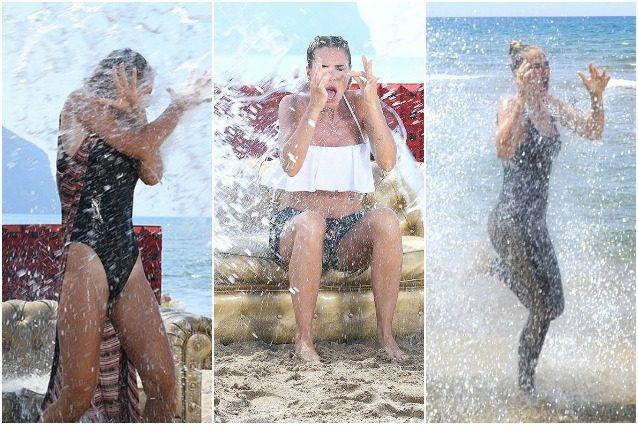 Ilary Blasi tormentata dai gavettoni, dura la vita in spiaggia aspettando il GF Vip