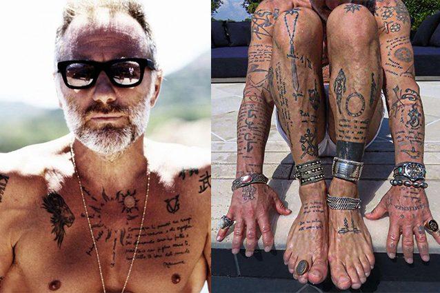 """Il significato dei tatuaggi di Gianluca Vacchi: """"Raccontano la mia vita e le persone che ho perso"""""""