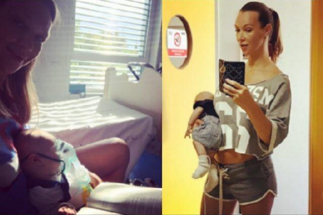 Il figlio di Ludmilla Radchenko e Matteo Viviani in ospedale per la Pertosse