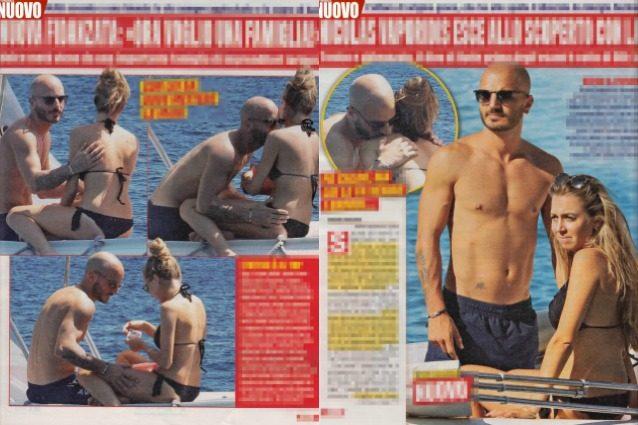 Nicolas Vaporidis ha una nuova fidanzata: baci e carezze in barca