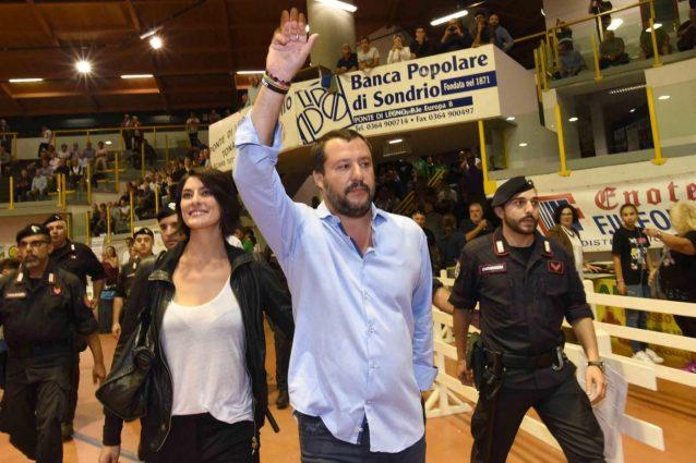 Salvini e la Isoardi al comizio della Lega, è lei la chiave della campagna elettorale?