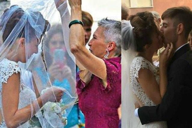 Irene Pivetti radiosa al matrimonio della figlia Ludovica Maria Brambilla