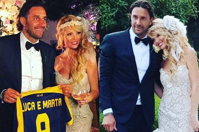 Luca Toni e Marta Cecchetto sposi dopo vent'anni d'amore