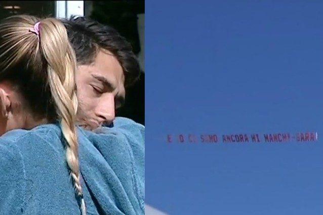 """""""E io ci sono ancora"""": Sara, ex di Jeremias, gli manda un aereo e lui finisce in lacrime"""