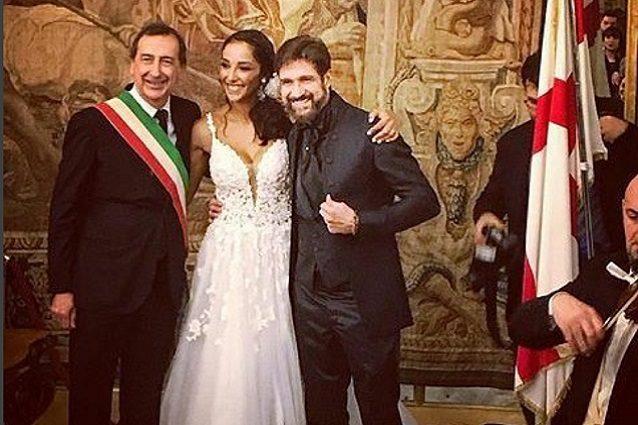 Juliana Moreira ed Edoardo Stoppa, nozze Italia-Brasile