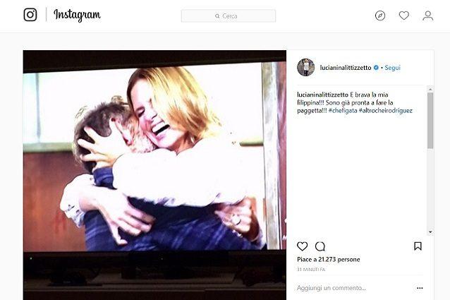 """Luciana Littizzetto fa gli auguri agli sposi Filippa e Bossari: """"Altro che Rodriguez"""""""