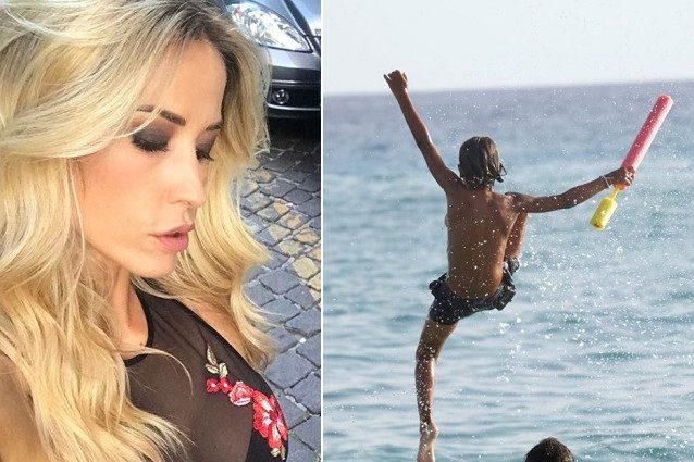Elena Santarelli annuncia la brutta malattia del figlio