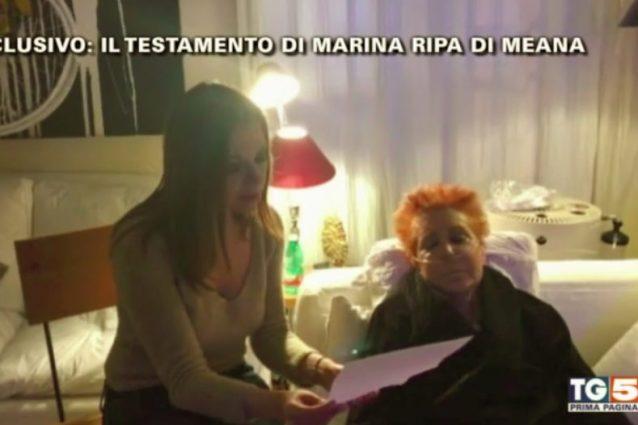 Il videotestamento di Marina Ripa di Meana