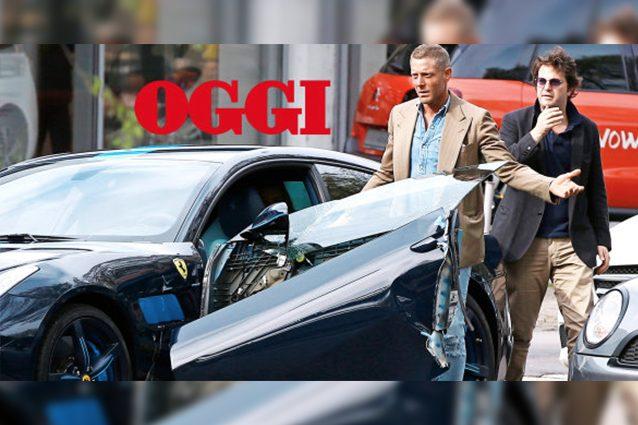 Lapo Elkann distrugge la Ferrari da fermo. Danni per 30mila euro