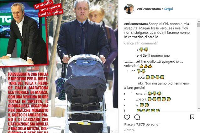 Enrico Mentana è diventato nonno? Il direttore del TgLa7 smentisce sui social