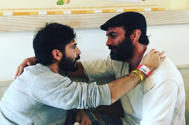 Francesco Arca visita Marco Bocci ricoverato in ospedale