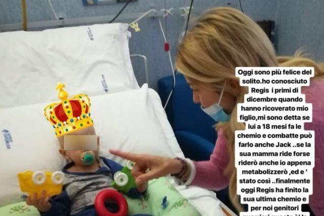 Elena Santarelli e la storia del piccolo Regis guarito dal cancro