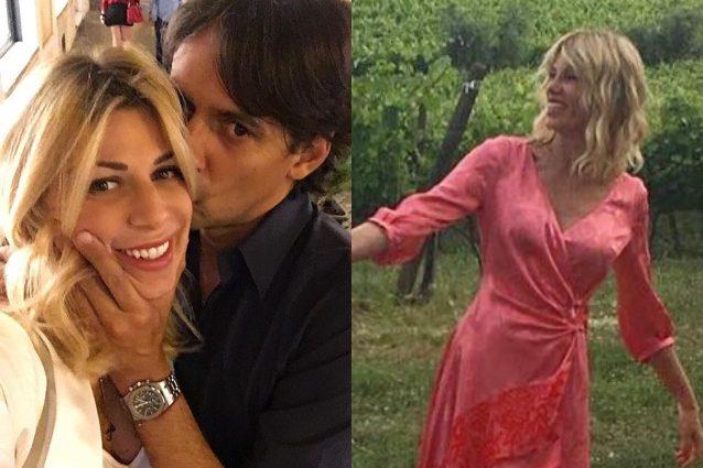 Alessia Marcuzzi si scatena alle nozze dell'ex Inzaghi (e fa da testimone)