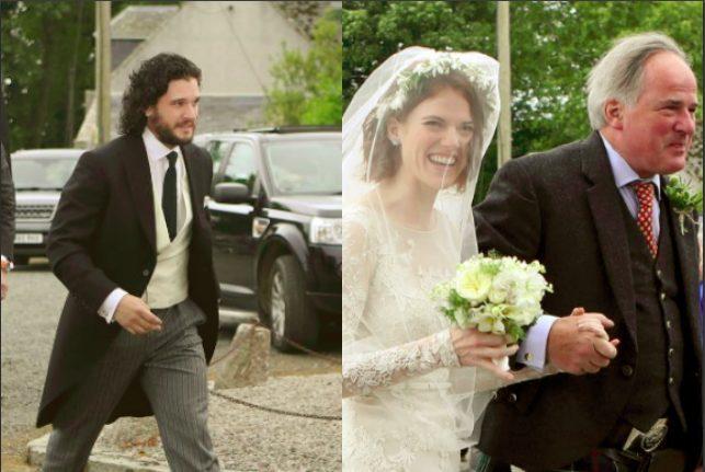 Matrimonio Tema Trono Di Spade : Kit harington e rose leslie matrimonio da favola tra le due star