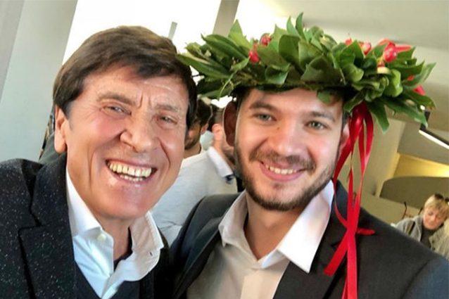 Gianni Morandi e l'orgoglio di nonno: